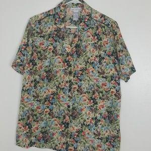 100% silk blouse size m